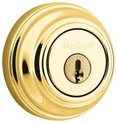 Kwikset 980 Polished Brass Single Cylinder Deadbolt with SmartKey®