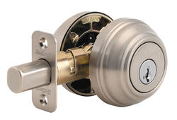 Kwikset 985 Satin Nickel Double Cylinder Deadbolt with SmartKey®