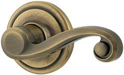 Kwikset Lido Antique Brass Half-Dummy Lever - Right-Handed
