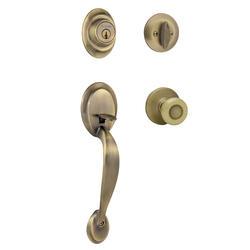 Kwikset Dakota Antique Brass Single Cylinder Handleset