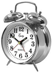 Equity Silver Twin Bell Alarm Clock