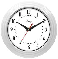 "Equity 8"" White Wall Clock"
