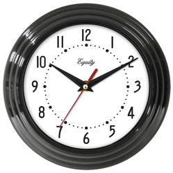 "Equity 8"" Black Wall Clock"