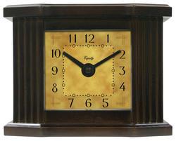 "Equity 6"" Mantel Clock in Dark Wood Grain"