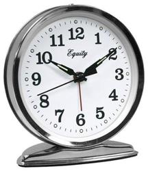 Equity Silver Wind Up Alarm Clock