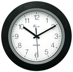 "La Crosse Technology 10"" Autoset Clock-Black"