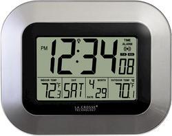 La Crosse Technology Atomic Wall Clock-Silver