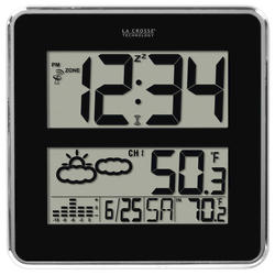 La Crosse Technology Digital Atomic Clock with Indoor and Outdoor Temperature and Forecast