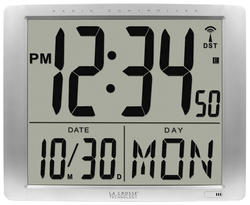 """La Crosse Technology Digital Atomic Clock with 7"""" Numeric Time Display"""