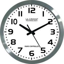 "La Crosse Technology 16"" Atomic Analog Wall Clock with White Dial"
