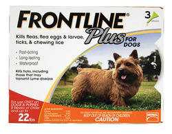 Frontline Plus® for Dogs Up to 22 lb. - 3 pk.