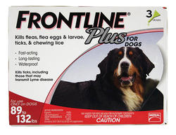 Frontline Plus® for Dogs 89 - 132 lb. - 3 pk.
