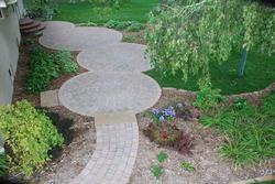 Landworks Design Interlocking Circles Patio Plan