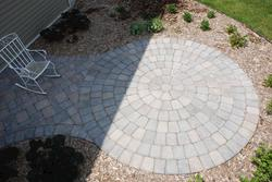 Landworks Design Circular Patio Plan