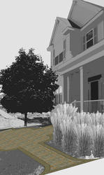 Landworks Design Formal Entry Courtyard Plan