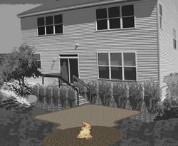 Landworks Design Fire Pit Patio Plan