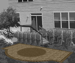 Landworks Design Arched Patio Plan