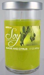 Empire Home® Sage and Citrus Soy Candle - 17 oz.