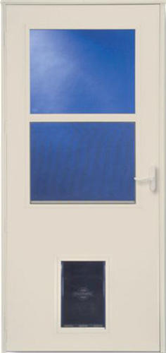 Larson Westminster Self Storing Storm Door W Pet Flap At
