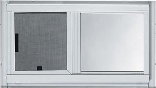 Larson 2 Track Slider Window W Low E Glass And Half Screen