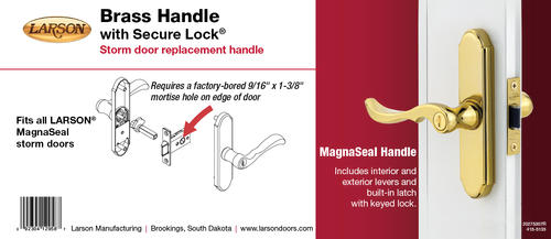 Larson Brass Replacement Mortised Handle For Magnaseal