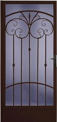 "Larson Palazzo 36"" x 80"" Speckled Bronze Finish Left Hinge Full-View Steel Security Door and Screen"