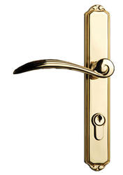 Larson First Impressions Brass Keyed Handleset for Storm and Screen Doors