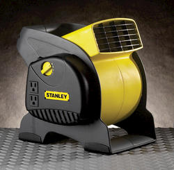 Stanley Blower Fan: Pivoting Utility Fan with Grounded Outlets