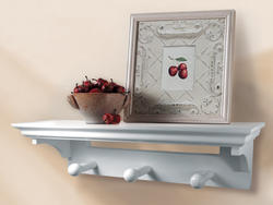 White Shelf with Pegs