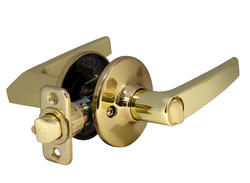 Atlas Polished Brass Straight Bed & Bath Privacy Lever