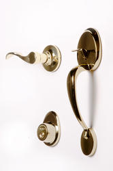 Tru-Bolt Trinidad Polished Brass Entry Handleset with Interior Lever