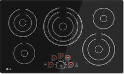 "LG® 36"" Built-In Electric Cooktop with 5 Radiant Cooktop Burners"