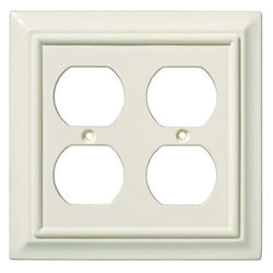 Brainerd Wood Architectural Double Duplex Wall Plate