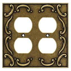 Brainerd French Lace Double Duplex Wall Plate