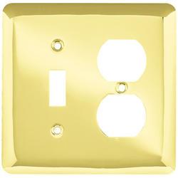 Brainerd Stamped Round Single-Switch/Duplex Wall Plate