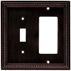 Brainerd Beaded Single Switch/Decorator Wall Plate
