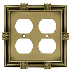 Brainerd Pineapple Double Duplex Wall Plate