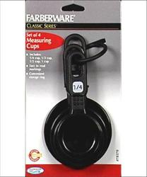Farberware Classic Series Black Measuring Cups - 4 ct.