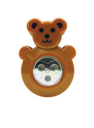Sunbeam Bear Battery-Powered 3-LED Push Light