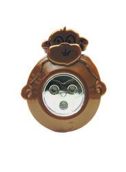 Sunbeam Monkey Battery-Powered 3-LED Push Light