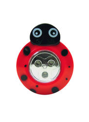 Sunbeam Ladybug Battery-Powered 3-LED Push Light