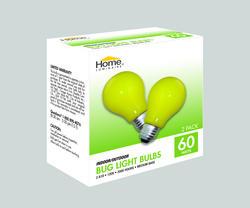 Home Luminaire 60-Watt A19 Bug Light Bulbs (2-Pack)