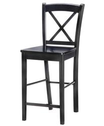"Linon 30"" Seat Height Black X-Back Bar Stool"