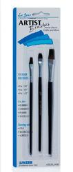 Linzer Flat Artist Brush Set - 3 pc.