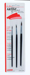 Linzer Round Artist Brush Set - 3 pc.