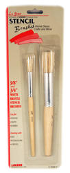 Linzer White Bristle Stencil Brush Set - 2 pc.