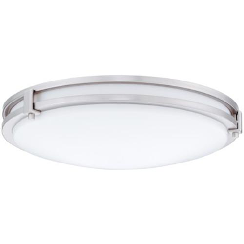13 In. 3000K LED Brushed Nickel Saturn LED Flush Mount At