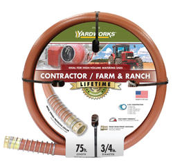 "Yardworks® 3/4"" x 75' Contractor / Farm & Ranch Garden Hose"