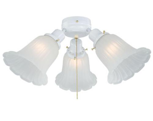 light 18 white ceiling fan light at menards. Black Bedroom Furniture Sets. Home Design Ideas
