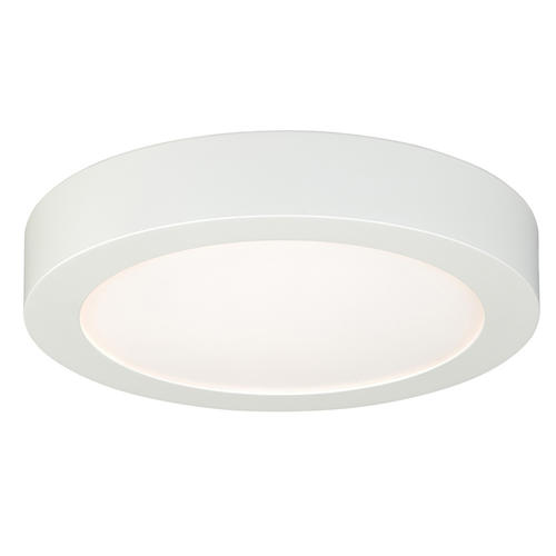 "Edge Lit 9"" 850 Lumens Dimmable LED White Flush Mount At"